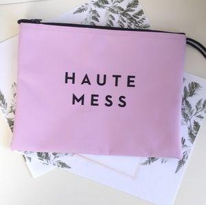 """""""Milley"""" Haute Mess Lavender Zip Pouch"""